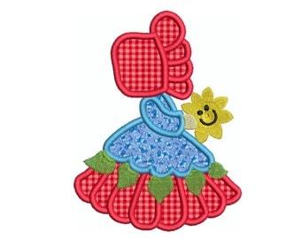 SUNBONNET 6 - Machine Applique Embroidery - Instant Digital Download