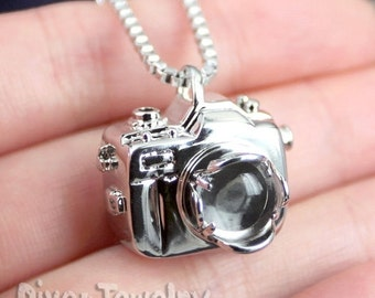 SALE Rare Incredible Design 3D Underwater Camera Housing with Dome Port Pendant Necklace