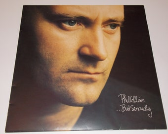 1983 - Phil Collins - But Seriously - w/ Lyric sleeve - LP Vinyl Record Album - 80's / Pop / Rock