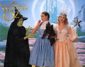Simplicity 7808 Sewing Pattern Wizard Of Oz Dorothy, Wicked Witch of the West and Glinda The Good Witch Costumes - Uncut - Size 18, 20, 22