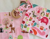 Woodland Friends Face Washer + Teething Bunny Set - Perfect Baby Shower Gift!
