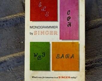 Singer Monogrammer, Vintage sewing, Singer ,sewing machine, attachment,