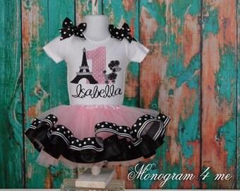 Paris Princess Birthday shirt - tutu - girls first birthday outfit - dog