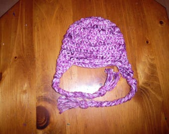 crochet hat, child hat, winter hat, beanie, purple hat, christmas