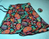 "14"" Multi Floral with Birds Ballet Wrap Skirt"