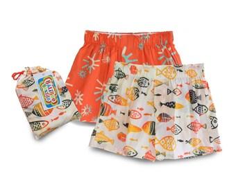 Boys Pajama Shorts, Boys Birthday Gift Set, Boys Pajama Set, Birthday Boy Shorts, Boy Diaper Cover