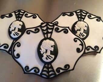 1 DZ Lady Victorian Skeleton Sugar Cookies