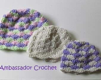 Sweet Savanna Shells Cloche Crochet Pattern PDF 153