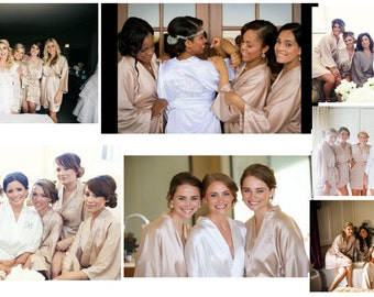 Bridesmaid robes champagne robes white robe ivory robes beige robes personalized robes monogrammed robes hand made to order robes cheap kid