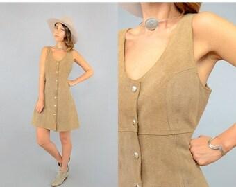 SUMMER SALE 60's Suede Mini Dress