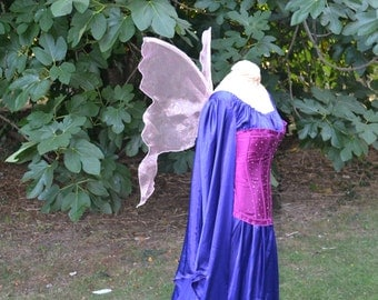 Pink Pearlized Opalescent PIXIe Fairy WINGS Halloween Elf angel flower girl edm rave sass tooth tale Elven magic costume xs dress up cosplay