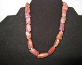 """Pink Sapphire Natural Crystal, 8"""" Strand, Freeform Nugget Beads, Corundum, 50 Grams, Jewelry Making, Necklace, Pendant, Supplies, 5 - 15 mm"""