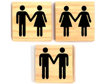 Helvetica Couple Holding Hands- Man and Woman, Man and Man, Woman and Woman