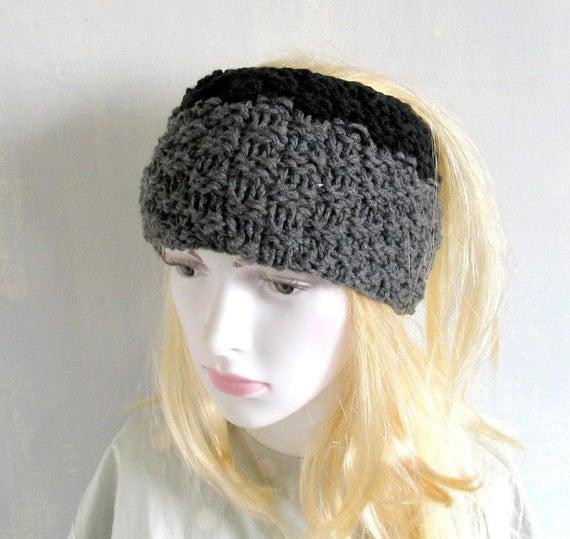 Plain dreadlock tube hat Mens knit headband wide by ...
