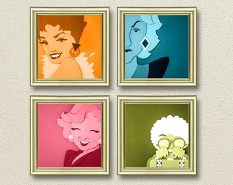Golden Girls Inspired Art - Choose individual prints or as a set