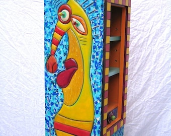 Sea Horse Cupboard, Original Hand Crafted Art Furniture by Fig Jam Studio