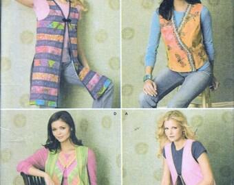 Simplicity 4239 Misses Vests Long Short Waistcoat Botsford Sewing Pattern UNCUT Size XS, S, M, L, XL