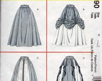 McCalls Pattern 4090 Renaissance SCA Medieval Skirts Costume Size 6, 8, 10 and 12 Uncut