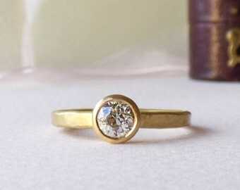 May 18ct Fairtrade Gold Ethical Engagement Ring With An Old Mine Cut or Canadian Ethical Diamond