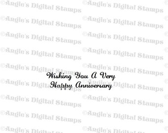 Happy Anniversary Quote Digital Stamp Image