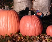 Xtra Large Artificial pumpkin 14 inches tall 35-1/2 inches around