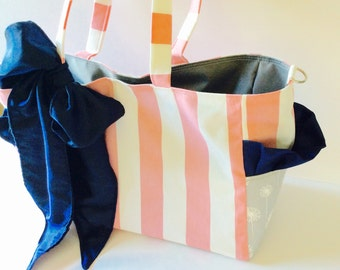 MADE TO ORDER Boutique Diaper Bag Set, Sash, Diaper Clutch, Changing Pad, Long Strap, Magnetic Closure, Free Monogram, Waterproof lining
