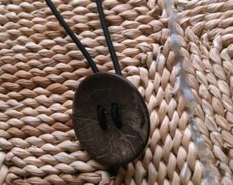 Coconut Wood Button Hair/ Dreadlock Tie