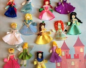 Princess Clips Collection Set of 13   Inspired by Disney Perfect for Birthdays, Baby Showers, Vacations and more