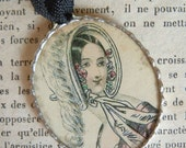 Fiona and The Fig 1840 French Fashion Plate Charm Necklace Pendant