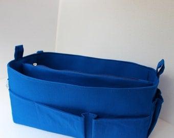 Purse organizer insert- Bag organizer in Royal Blue fabric