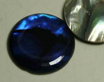 1 pc 25 mm Paua Abalone round cabochon Dyed Paua Abalone thickness 3.5 mm 250CB