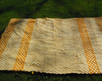 Chenille Cutter, 2 Toned Yellow Blanket, Fabric for Crafts