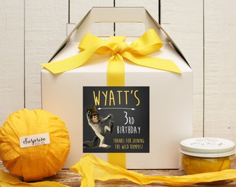 Set of 6 - Where The Wild Things Are Birthday Party Favor Boxes // Where the Wild Things Are Birthday Party // Kids Party Favor