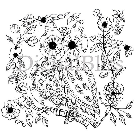 whimsical flower coloring pages - photo#41
