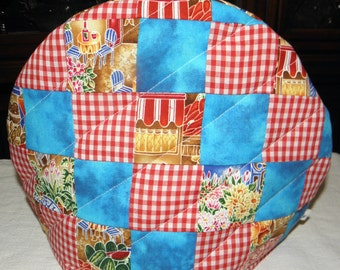 Teapot Cozy, Quilted Tea Cozy, Teapot Cover, Patchwork Design, Ready to Ship