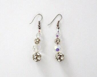 SALE vintage rhinestone drop earrings