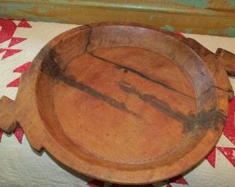 Vintage Wooden Serving Bowl.