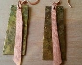 NEW for FALL - Boho Inspired Hammered Copper and Brass Earrings