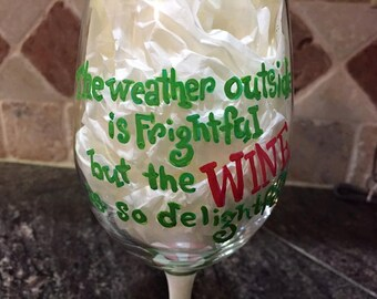 Holiday Wine Glass