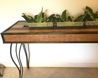 Entry Way Table, Hairpin Legs Console Table, Rustic Sofa Table Planter