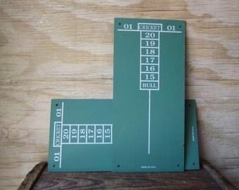 Vintage Cricket Score Boards - Chalkboard - Game Room