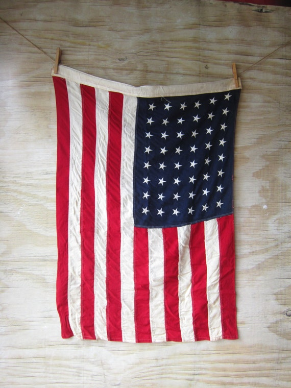 vintage american flag wall hanging. Black Bedroom Furniture Sets. Home Design Ideas