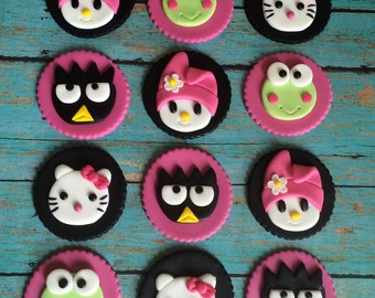 EDIBLE (Fondant Toppers) - Hello Kitty Inspired