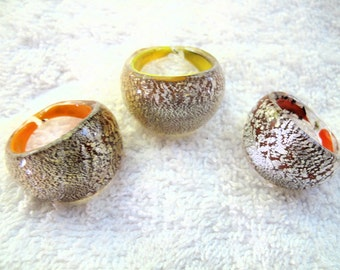 Vintage Glass Rings-Lot of 3