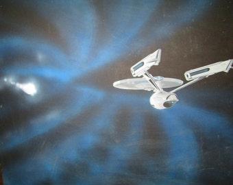 Star Trek Vintage Fan Art Painting on Board