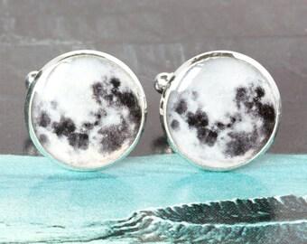 Moon Cufflinks, stargazer cufflinks, Space cufflinks, gifts for stargazers, star gazer cufflinks, Lunar cufflinks, Astral cufflinks
