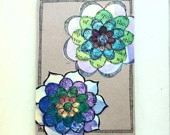 Paper Flower Garden series 1 - 5x7 (PFGL-0008) - Handmade Blank Card