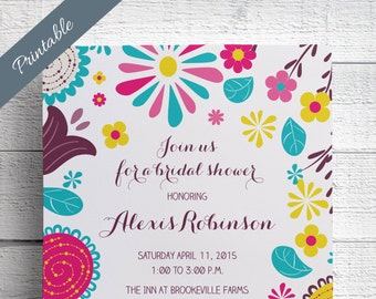 Spring Bridal Shower Invitation Print Your Own