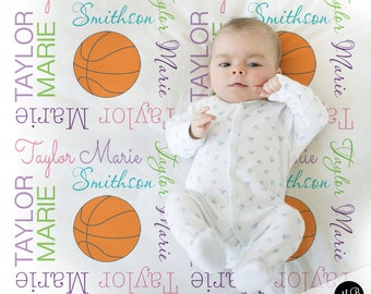 Basketball blanket etsy girl basketball blanket personalized gift basketball photo prop blanket personalized sports name blanket negle Choice Image