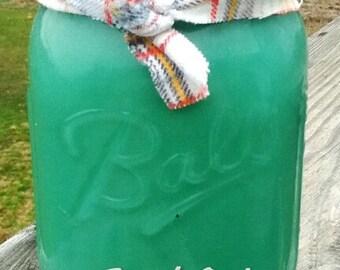 Fresh Cut Grass Soy Candle in 16 oz Mason Jar